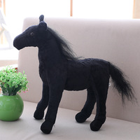 big new plush simulation horse toy stuffed black horse doll gift about 50cm s1953
