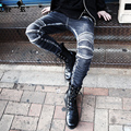 2017 New fashion brand casual Jeans men slim punk fashion vintage retro Rock denim trousers singer costumes pants