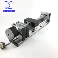 Linear Stage Actuator 200MM Ball Screw Slide Rail Linear Motion Guide Moving Table Slip way+ 1Pcs Nema 23 motor 57 Stepper Motor
