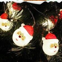 купить Christmas Light Outdoor Indoor 10LED Battery Powered LED String Lights Oldman Head Party Event Christmas Birthday Decorative по цене 328.26 рублей