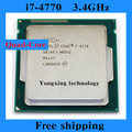 Core i7 4770 3.4GHz 8M SR149 Quad Core Eight threads desktop processors Computer CPU Socket LGA 1150 pin