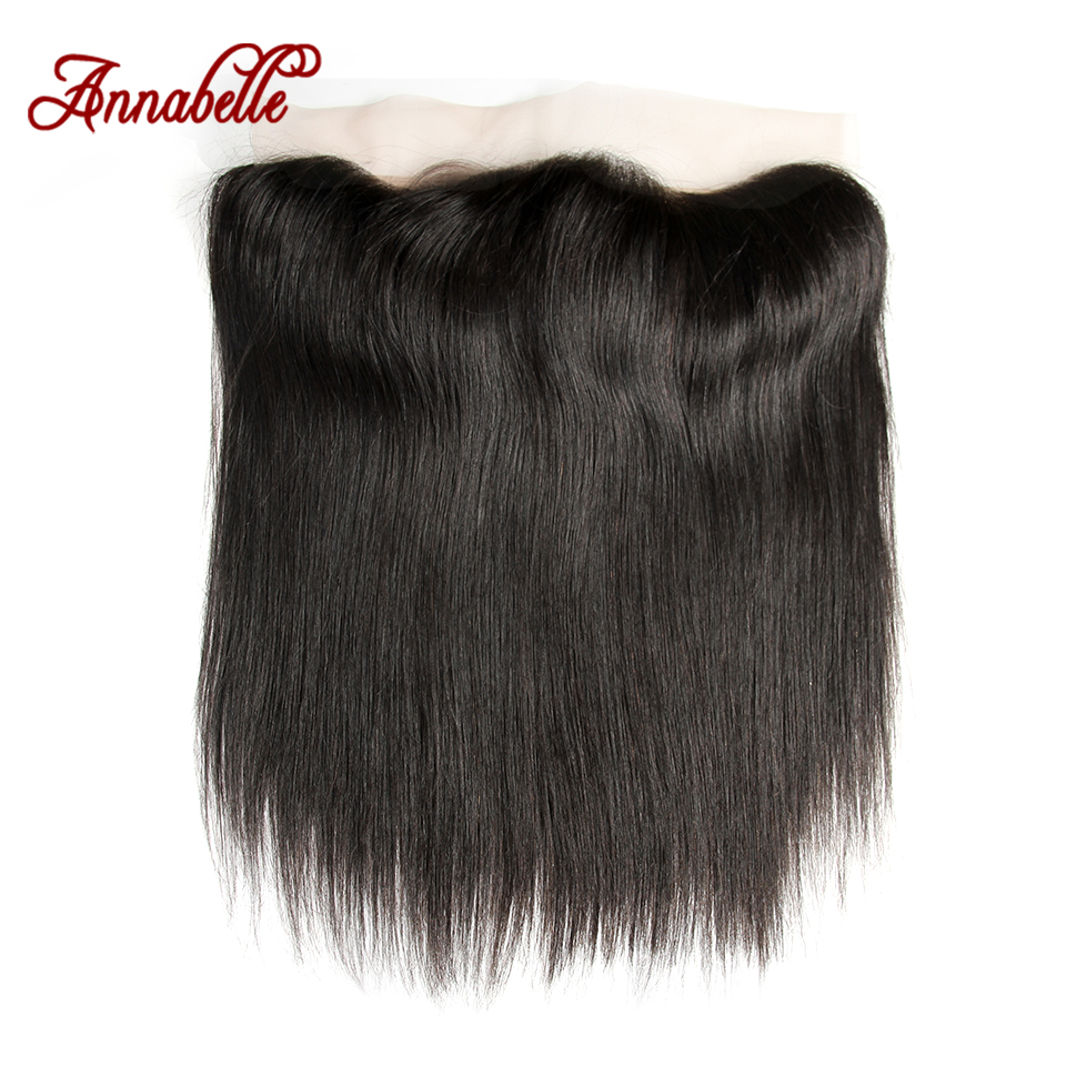 ALI ANNABELLE HAIR Peruvian Straight Lace Frontal Free Part Ear to Ear Human Hair Lace Closure