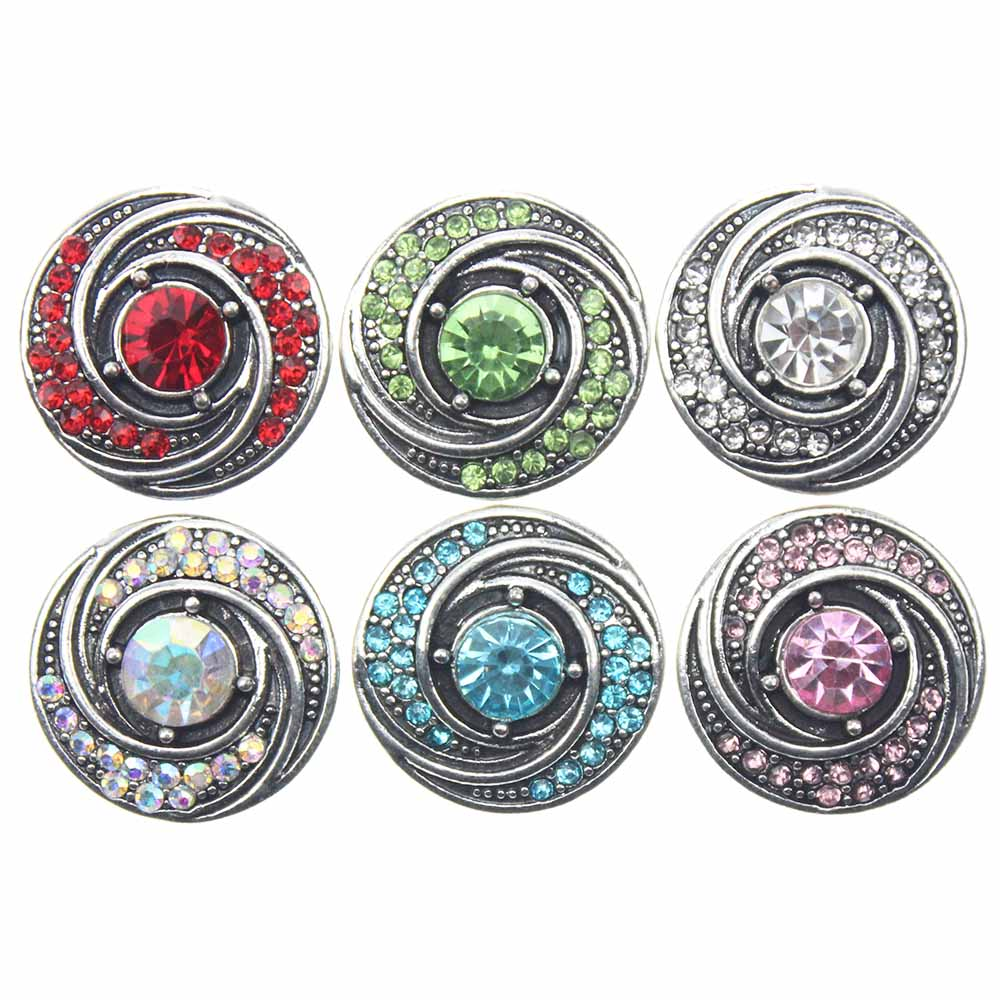 10pcslot Round Snap Button Jewelry Mixed Colors Ginger Metal 18mm Snap Buttons Fit Snap
