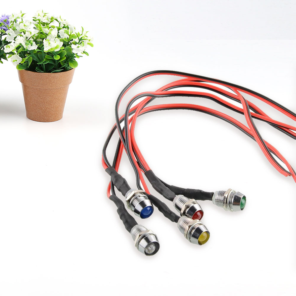 Cool 5x LED Indicator Light Lamp Pilot Dash Directional For Car cars Vehicle color Red Yellow Green