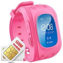 Q50 Relógio Inteligente relógio de Pulso Kid Safe Anti-Perdido Relógio Inteligente Crianças relógio para iOS Android com GPS GSM Localizador Localizador Rastreador SIM