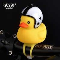 Lohnende Fahrrad Ente Glocke mit Licht Gebrochen Wind Kleine Gelbe Ente MTB Rennrad Motor Helm Reiten Radfahren Zubehör