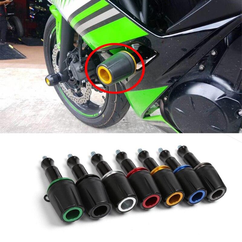 Color : Black for Kawasaki Z250 Z750 Z650 Z800 Z900 Z1000 Ninja ZX6R ZX-10R Motorrad 6mm Kotfl/ügel vorne Sturzpad Screw Bolt Gabelschutz