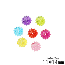 11*14MM High Quality Flower Acrylic Loose Spacer Beads Transparent Cute Beads For Bracelet Jewelry Making, 45Pcs