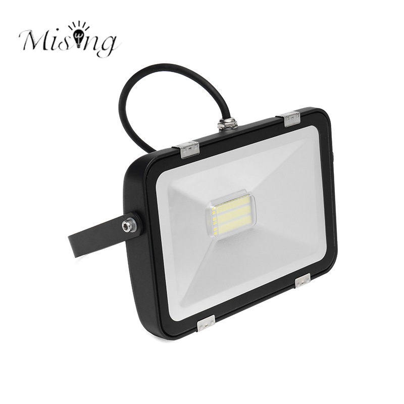 Mising 20W 30W IP65 Waterproof Floodlight 120 Degree Angle LED Flood Light Outdoor Spotlight Floodlights 260V Reflector Lighting