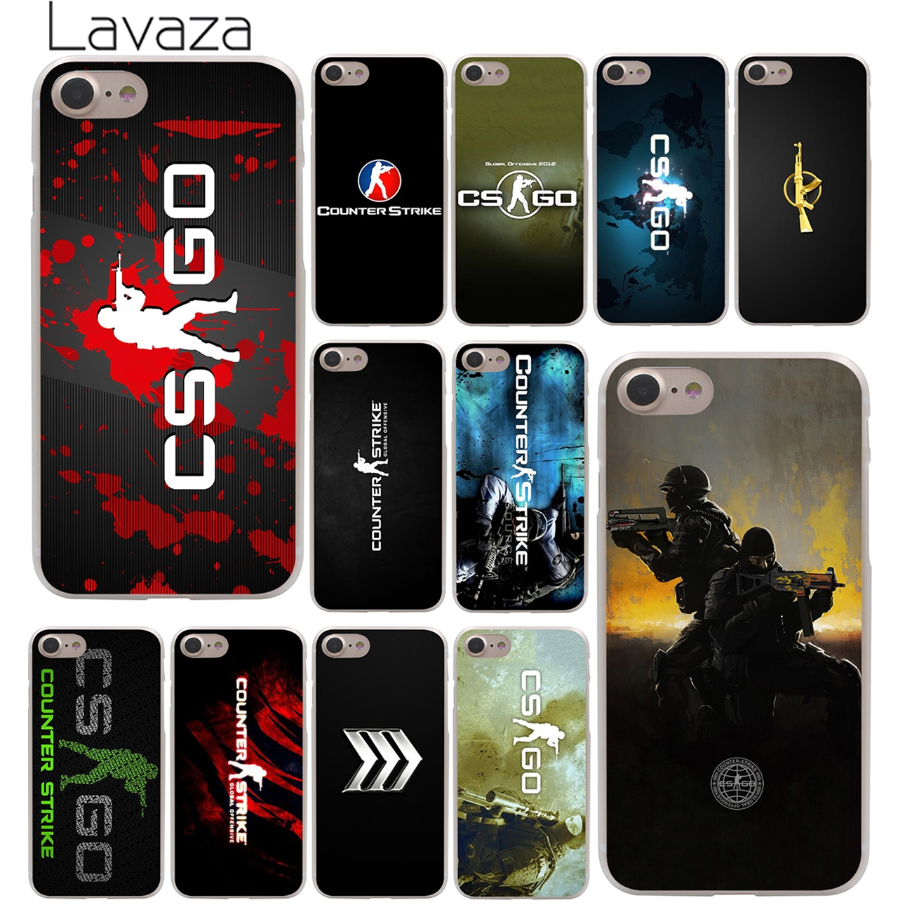 Counter Strike cs go Hard Case Transparent for iPhone 7 7 Plus 6 6s Plus 5 5S SE 5C 4 4S