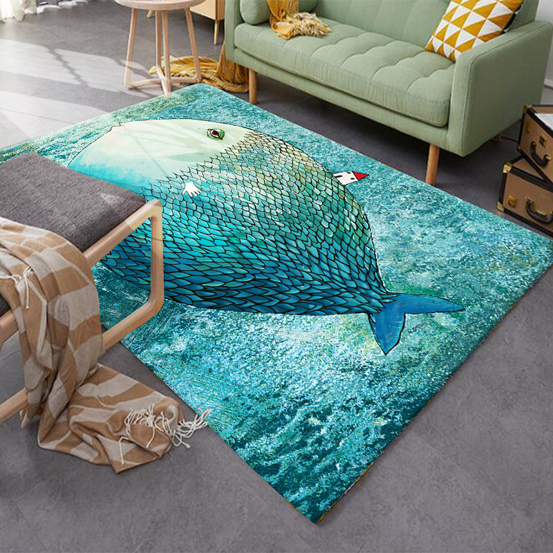 80*120cm Creative Europe Type 3D Printing Simple  Modern Carpet Hallway Doormat Anti - Slip Bathroom Carpet Absorb Water Kitch