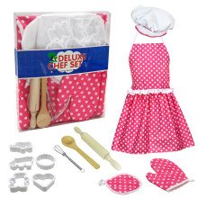 12pc Kids Cooking And Baking Set Kitchen Deluxe Chef Set Costume Prete