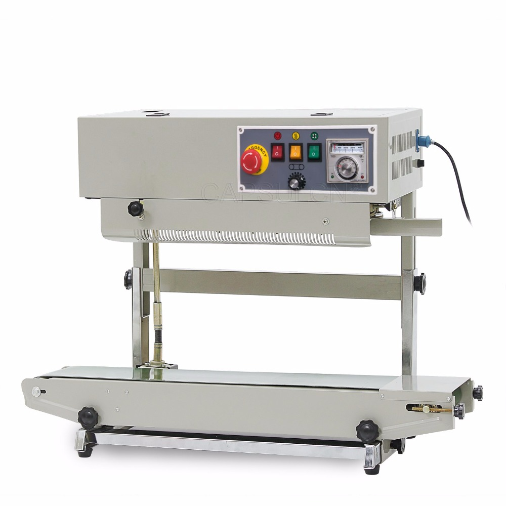 CapsulCN, FR-900V Continuous Band Sealer Plastic Bag Sealing Machine (110V/60HZ)