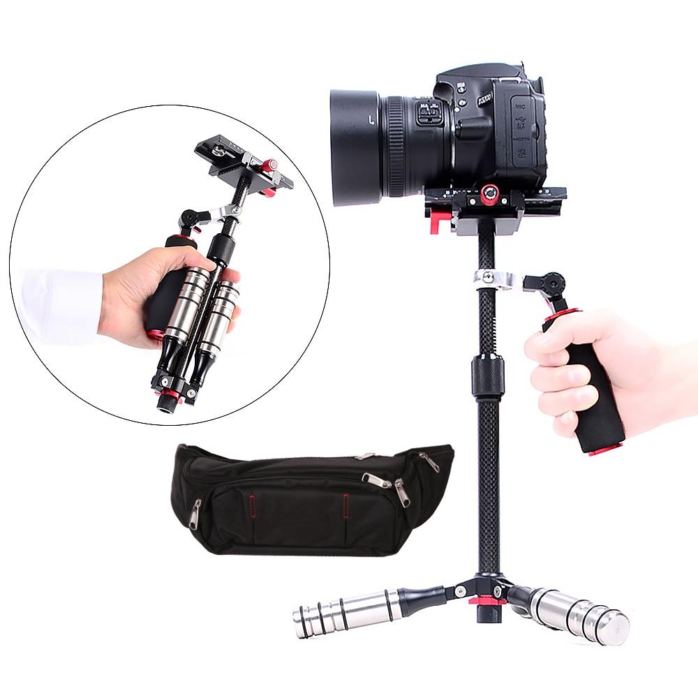 Carbon Fiber Super Light Handheld Video Stabilizer Camera Steadicam Stabilizer For Canon Nikon Sony Phone DSLR DV Three-axis