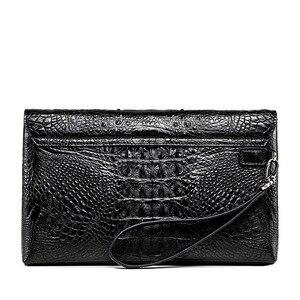 Image 3 - Luksusowy skórzany portfel kopertówka mężczyźni prawdziwy krokodyl cltuch torba dla mężczyzn prawdziwy portfel skóry aligatora z nadgarstkiem moda torba męska