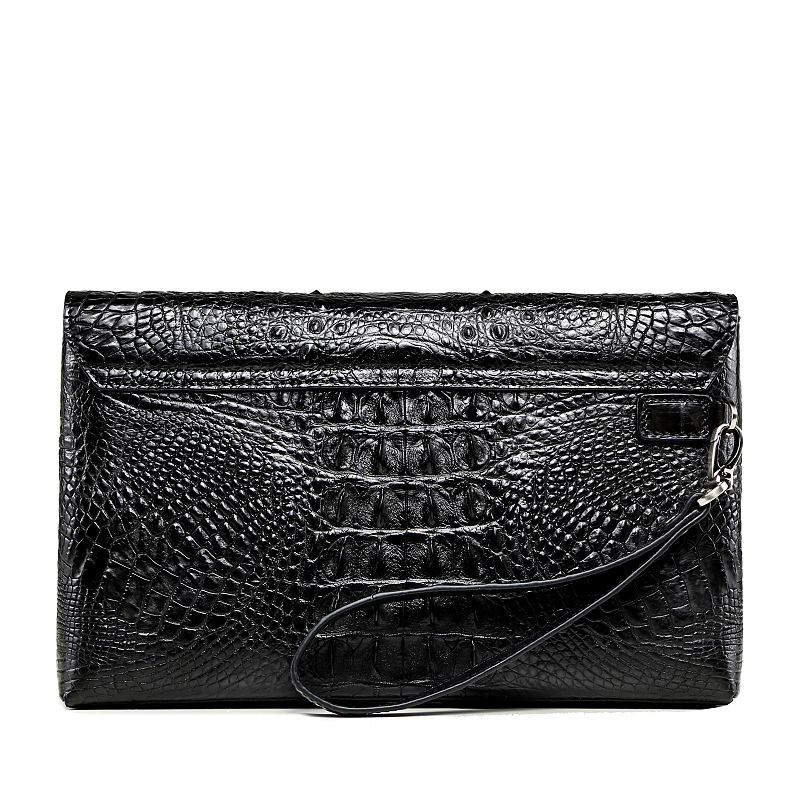 Image 3 - Luxury leather clutch wallet men Genuine crocodile cltuch bag for male Real alligator skin wallet with wristband Fashion Men BagWallets   -