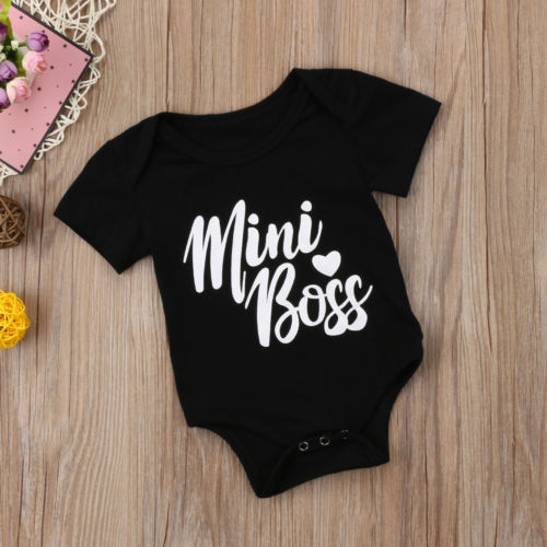 Pudcoco New Baby Boys Girls Kids Mini boss   Romper   cotton Jumpsuit cute babies body suit Clothes summer Outfits