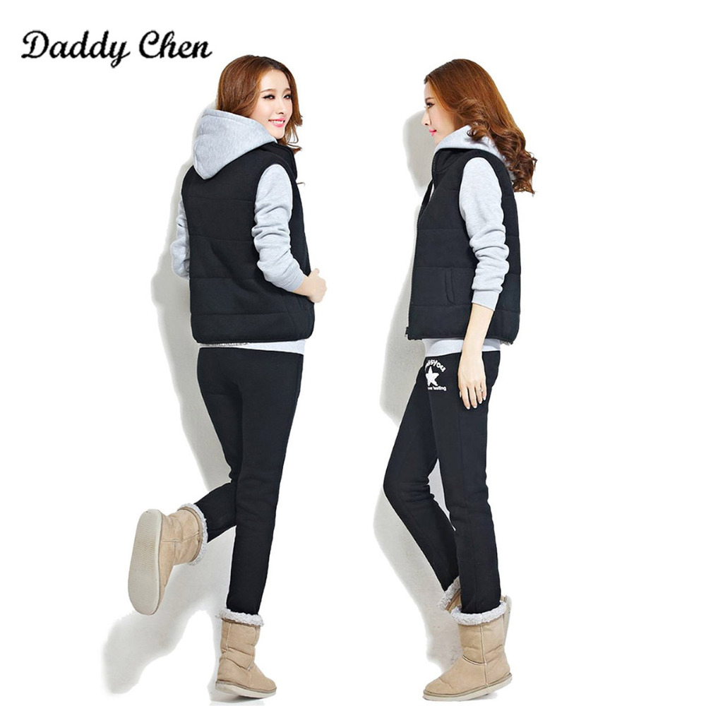 Detail Feedback Questions about Autumn Winter Tracksuit Long Sleeve  Stitching Sweatshirts Casual Suit Women Clothing 3 Piece Set  Tops+Pants+jacket Sporting ... 63dc2faa1