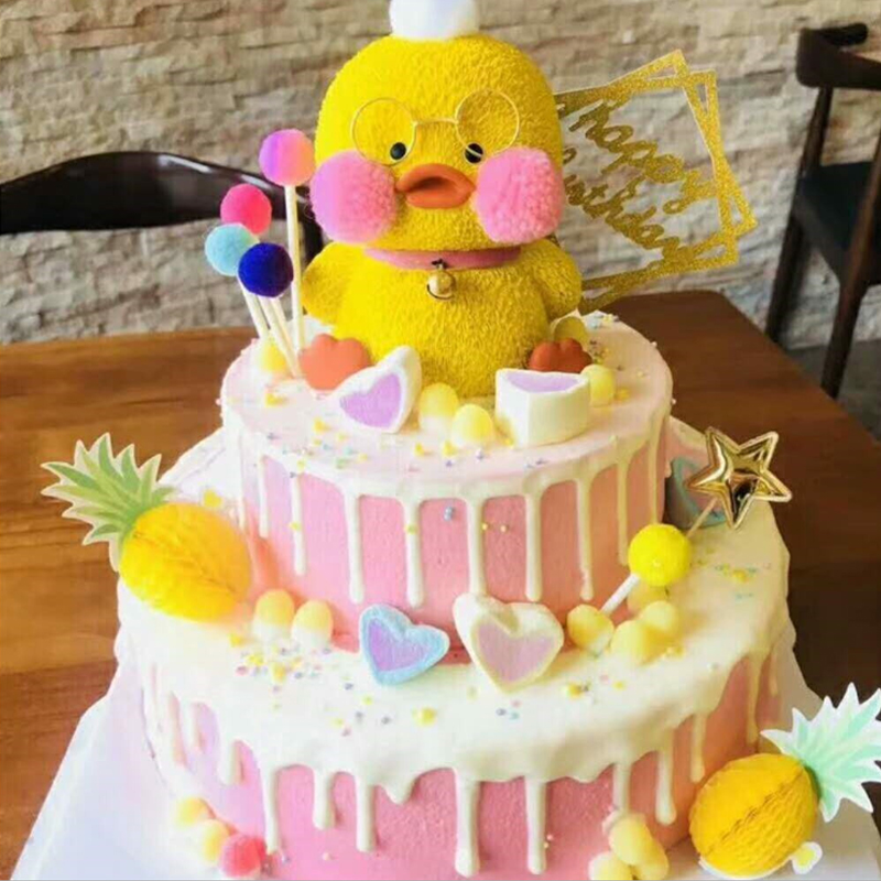 Astonishing Animal Decoration Little Duck Toy Topper Cupcake Dolls Boys Kids Funny Birthday Cards Online Alyptdamsfinfo
