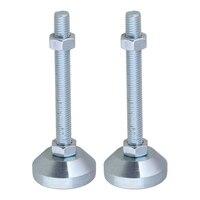 2pcs 50mm Dia M12x100mm Thread Carbon Steel Fixed Adjustable Feet for Machine Furniture Feet Pad Max Load 1.5Ton