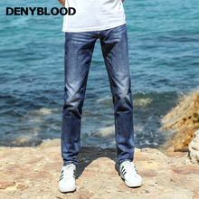 Denyblood Jeans 2017 Summer Mens Stretch Denim Slim Straigt Jeans Pants Classic Style Light Weight Casual