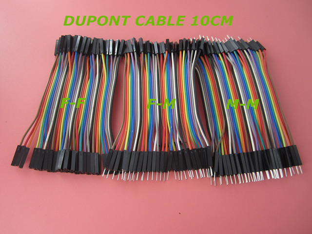 Hot Dupont line 120pcs 10cm male to male + male to female and female to female jumper wire Dupont cable for Arduino