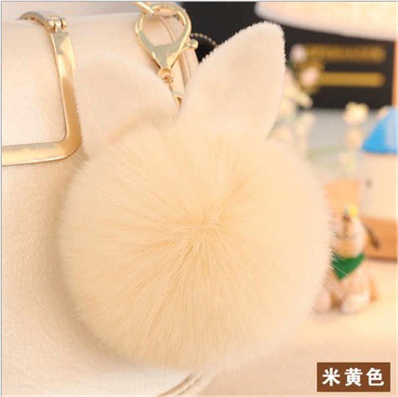 New Mini Sang Trọng Kawaii Thỏ Lông Bóng keychain Dễ Thương Thời Trang Trẻ Em Búp Bê Sang Trọng Pom Pom Mềm fluffy Quyến Rũ Bé Cho cô gái Phụ Nữ quà tặng