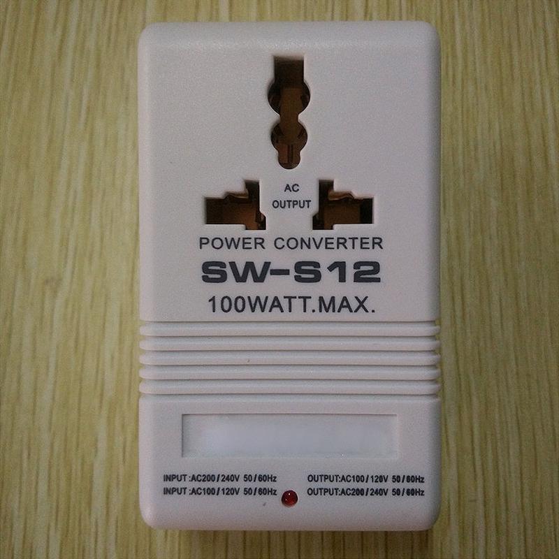 Электрическое устройство преобразования S12 AC 110V до 220V 100W шаг вверх и вниз двойной преобразователь напряжения трансформатор