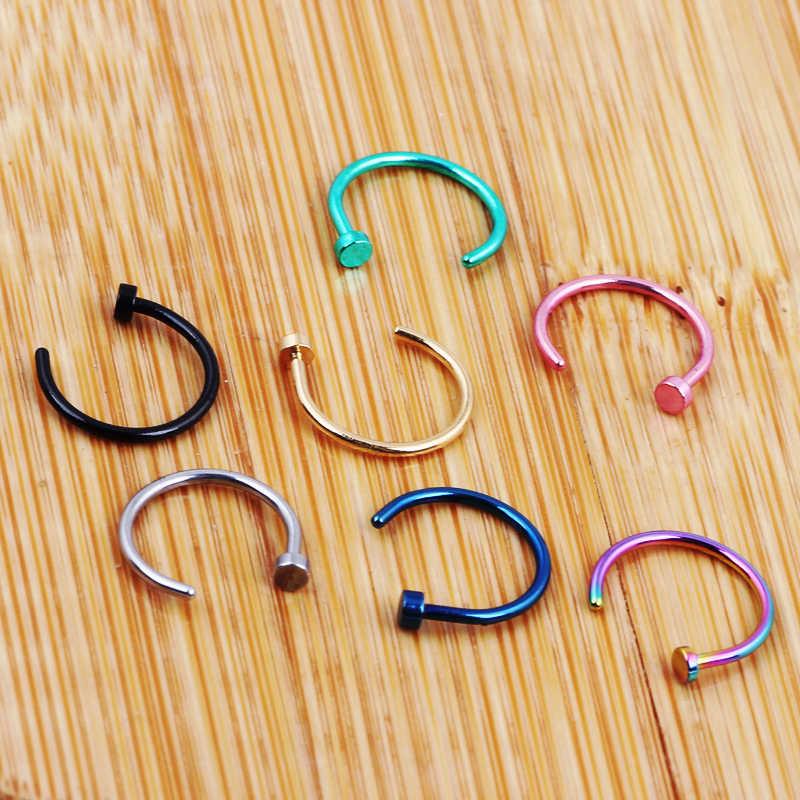 TIANCIFBYJS 1 шт. U образный кольцо в нос имитация обруч филигранные кольца нержавеющая сталь нос имитация пирсинга пирсинг Oreja Pircing ювелирные изделия