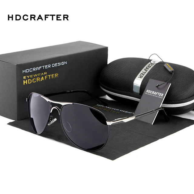 HDCRAFTER Alta Qualidade Da Marca Designer De Óculos De Sol Frescos óculos Polarizados Óculos de Sol dos homens Óculos de Proteção UV oculos de sol masculino
