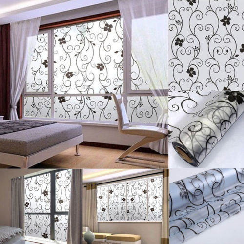 New 1 Roll Frosted Privacy Home Bedroom Bathroom Glass Window Film Stickers DIY Mural Vinyl Removable Sticker Home Room Decals