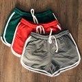 4 Cores Estilo Europeu Mulheres Shorts Causal Início Calções de treino de Fitness Roupas Femininas das Mulheres Curtas