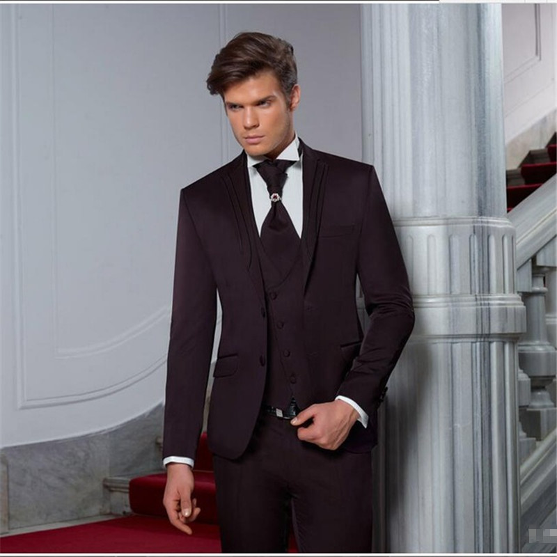 <font><b>Wedding</b></font> Groom Prom <font><b>Mens</b></font> <font><b>Suits</b></font> <font><b>2018</b></font> Latest Design Party Custom Made Tuxedos <font><b>Terno</b></font> Masculino <font><b>Men</b></font> <font><b>Suit</b></font> 3pieces(Jacket+Pant+Vest) image