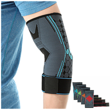 1 PC Knitted Bandage Elbow Protector Compression Honeycomb Elbow Pads Support Brace Arm Sleeve for Tennis Basketball Volleyball цены онлайн