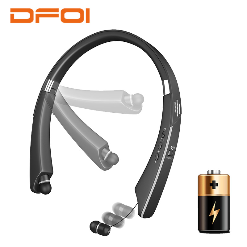 DFOI Bluetooth Earphones Wireless Sport Headphones Foldable Wireless Bluetooth Earphone Headset Handsfree Earbud For smart phone инструменты page 2