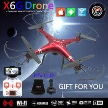 FPV Quadcopter Dron X6SW Brinquedos RC Helicóptero Quadrocopter Helicoptero Zangão com Câmera HD WI-FI