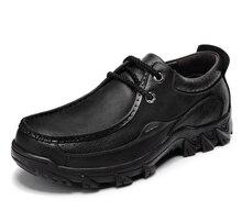 Dekensen Men Outdoor Casual Oxfords Shoes,High Quality Men's Genuine Leather Dress Shoes Thick Sole Non-slip Work Shoes 38~45
