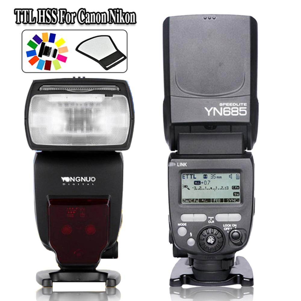 YONGNUO YN685 Sistema de radio 2.4G TTL HSS Flash inalámbrico - Cámara y foto