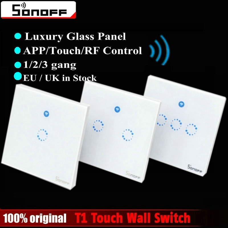 Sonoff T1 Smart Switch Eu    Uk Wifi Rf  App   Touch Control