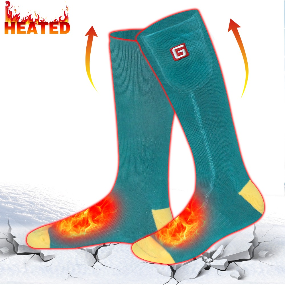 Heated Socks Heating Riding Cycling Fishing Racing Outdoor Sports Winter Working Cotton Electics Warm Socks Soft Washable quiksilver riding socks youth brillant 1108221