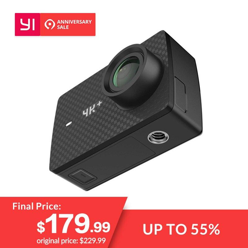 YI 4 K + (Plus) caméra d'action Internationale Édition PREMIÈRE 4 K/60fps Amba H2 SOC IMX377 12MP CMOS 2.2 PMA RAM WIFI Mini sport Caméra