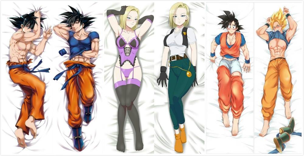 Japanese Anime Dragon Ball Z Son Goku Male Pillow Cover
