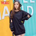 Korean Casual Sweatshirts Cute School Clothes Harajuku Women Moletom Long Sleeve Black Cool Hoodies Preppy Style Coat WXC