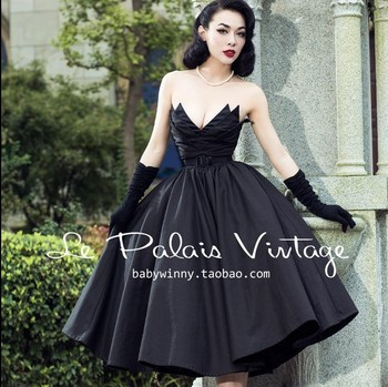 Big swing black elegant retro irregular wrapped chest Vintage 50s 60s rockabilly dress cotton sexy dress summer clothes cotton фото