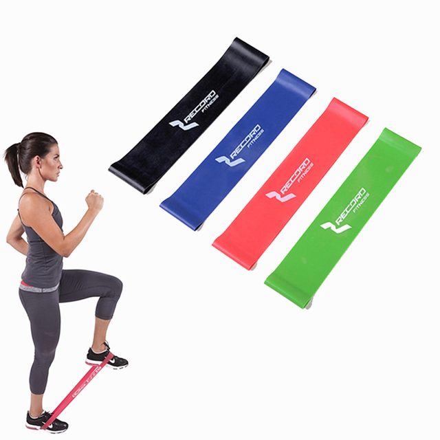 2f74a345f70 4 Levels Pilates Yoga Rubber Resistance Bands Fitness Loop rope Stretch  Band Crossfit elastic resistance band for bodybuilding