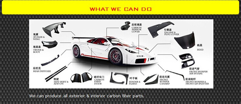 2013+ Q50 углеродного волокна наборы для тела Infiniti Q50, они могут быть высланы передний разделитель для губ сбоку юбки спойлер для багажника крыши задний спойлер