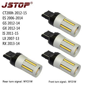 JSTOP 4pcs/set CT200h ES GS GX IS LX RX 12V led light W21W 7440 Canbus lamp No error No Hyper Flash WY21W Front Rear Turn Signal