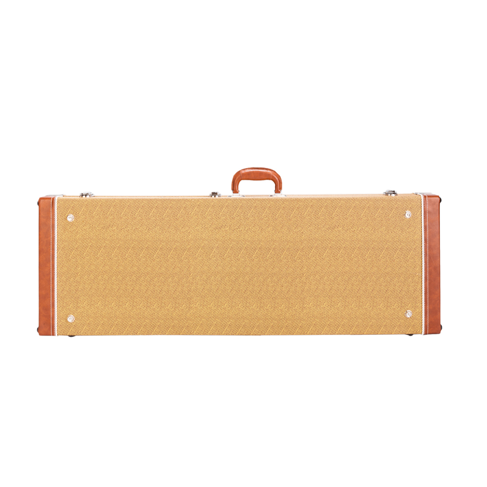 Glarry ST High Grade Electric Guitar Square Hard Case Flat Yellow