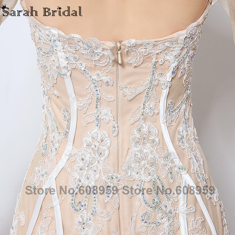 Nude Cut Srebrna večernja haljina Nova moda Crystal čipka tri - Haljina za posebne prigode - Foto 6