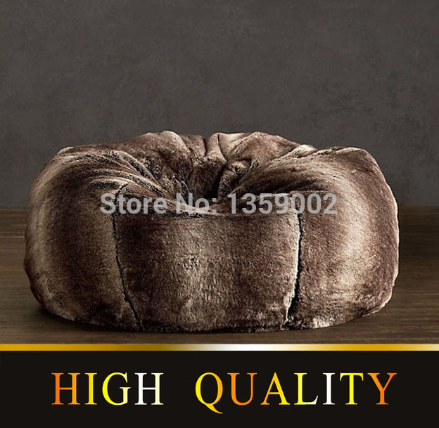 6814e80344 Free shipping sofa set living room furniture luxe bean bag cover faux fur  adult outdoor faux fur 01 lounge Chair corner sofa bed-in Living Room Sofas  from ...